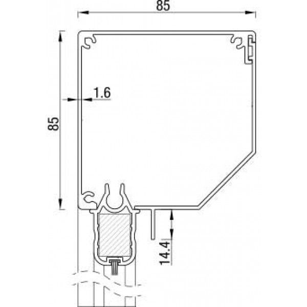 RitsScreen ZWS R85 Afgeschuind